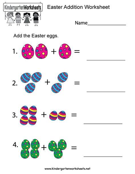 Preschool Worksheets Free by Easter Addition Worksheet Free Kindergarten