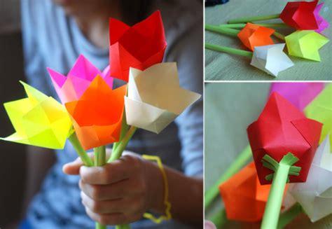 tutorial origami tulip welcome baby paper tulip picture tutorial