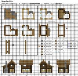 Floor Plans Minecraft by Woodland Hut Small Minecraft House Blueprint By
