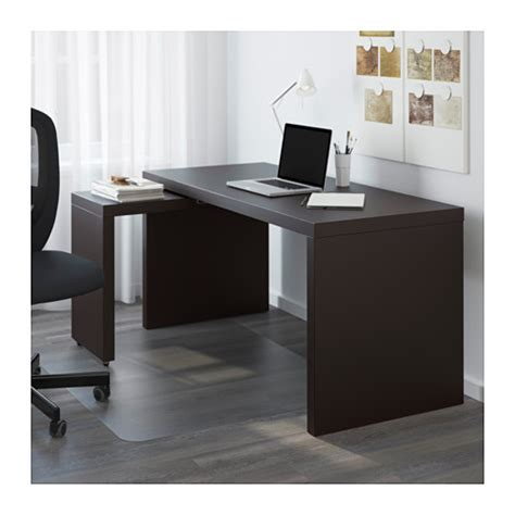 Malm Office Desk Malm Desk With Pull Out Panel Black Brown 151x65 Cm Ikea