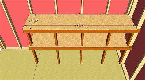 build shed shelves howtospecialist   build