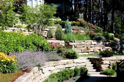 how to landscape a hill hillside landscaping pictures and ideas