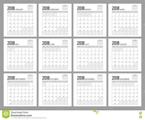 Calendar 2018 Illustrator 2018 Planner Design Stock Illustration Image 79231452