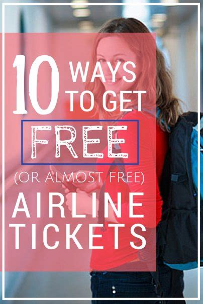 10 ways to get free or almost free airline tickets
