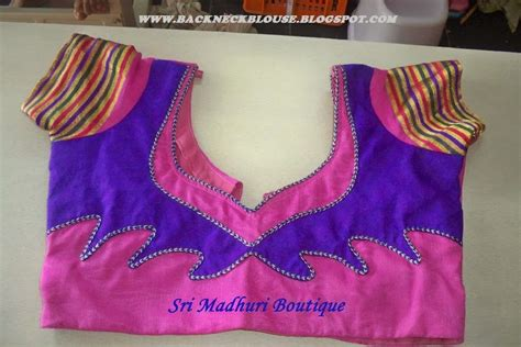 new pattern neck design back neck blouse ready made and customized designer blouse