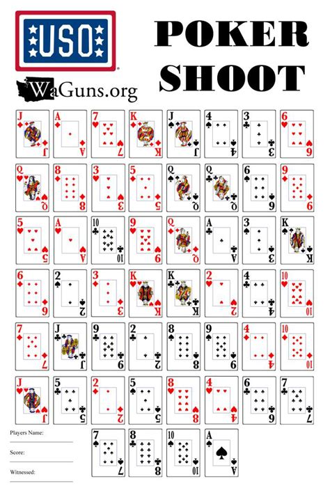 printable playing card targets waguns org view topic poker shoot for the u s o