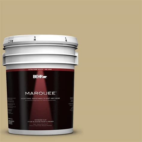 paint at home behr marquee 5 gal 380f 5 harmonic tan flat exterior