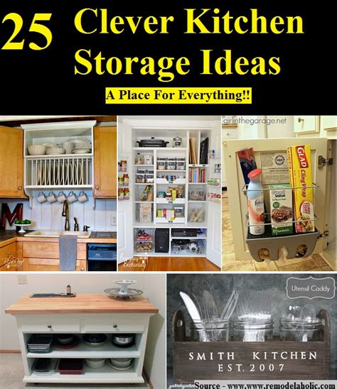 25 clever kitchen storage ideas home and tips