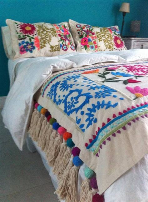 mexican embroidered bedding best 25 mexican pillows ideas on pinterest mexican