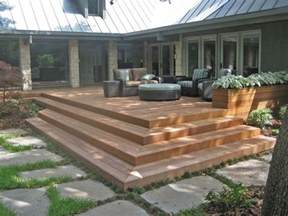 Corner Deck Stairs Design Corner Wrapped Deck Steps Pool Deck Ideas