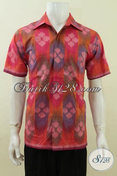 Baju Kemeja Bahan Linen Tenun baju kerja bahan tenun exclusive kemeja tenun lengan pendek warna cerah motif keren busana
