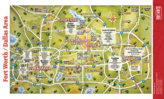 us map dallas map of dallas fort worth tourist travel map