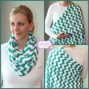 ready to ship hold me nursing scarf teal chevron
