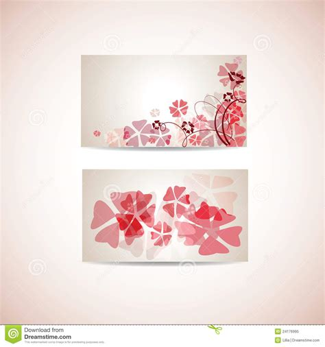 floral business card template royalty free stock photo
