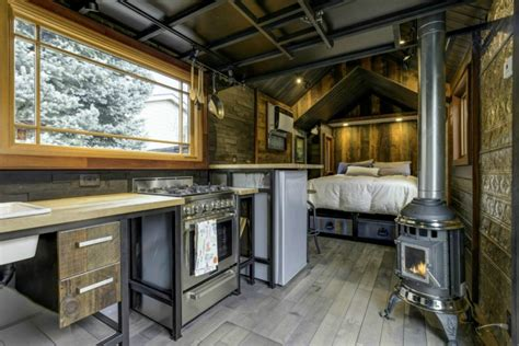 interiors of tiny homes this 74k tiny home has an interior that s