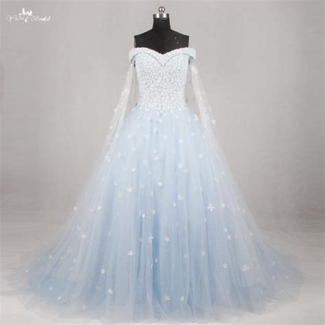 hochzeitskleid hellblau rsw1134 light blue wedding gown wedding dress 2016 off the