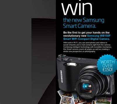 samsung wb150f smart wifi compact digital win a samsung wb150f smart wifi compact digital