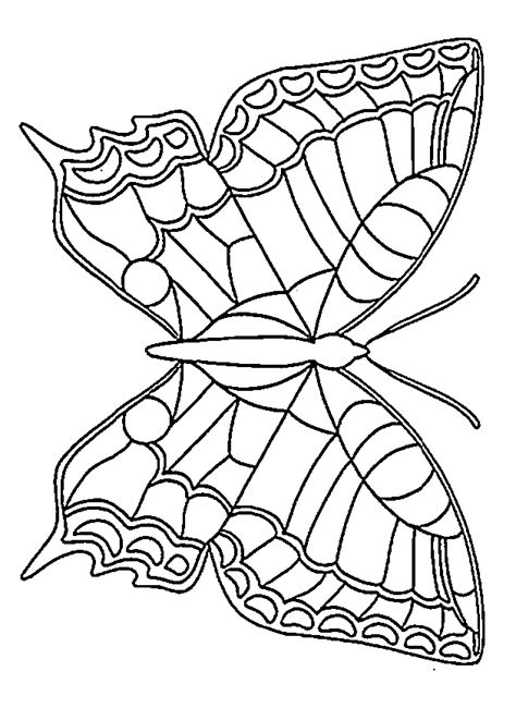 coloring page template printing butterfly coloring printables for kids