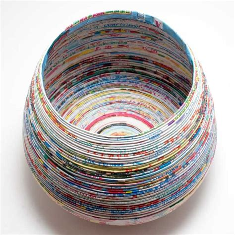 How To Make Paper Yarn - lantern moon recycled paper yarn bowl from hill country