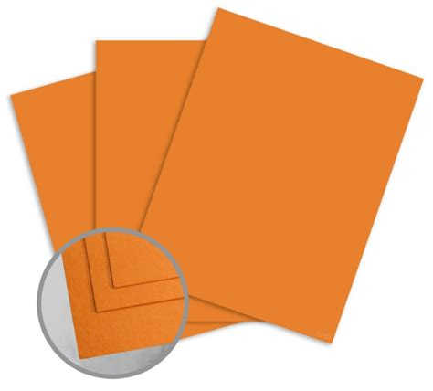 5 11 Orange Cover Orange colormates orange card stock 8 5x11 65lb cover smooth