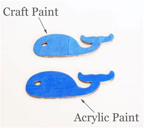 acrylic paint on wood what paint to use and when comparing craft and acrylic paint