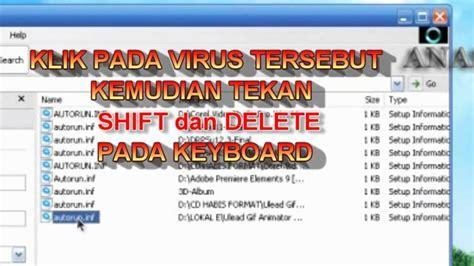 cara membuat virus autorun inf cara menghapus virus autorun inf youtube