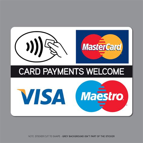 make a store card payment ref2507 contactless card payments sticker credit card taxi