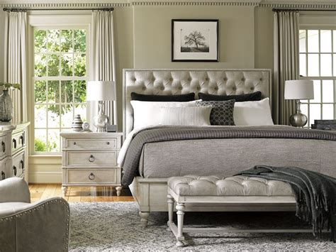 tufted bedroom set oyster bay sag harbor tufted upholstered platform bedroom