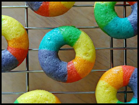 colorful donuts mini rainbow vanilla bean donuts