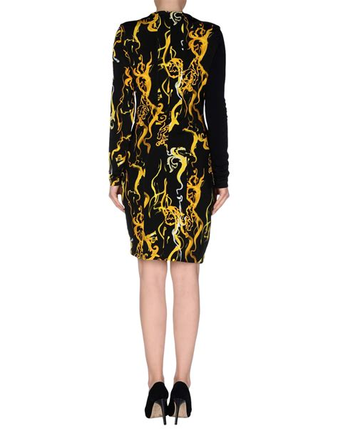 versace knee length dress in black lyst