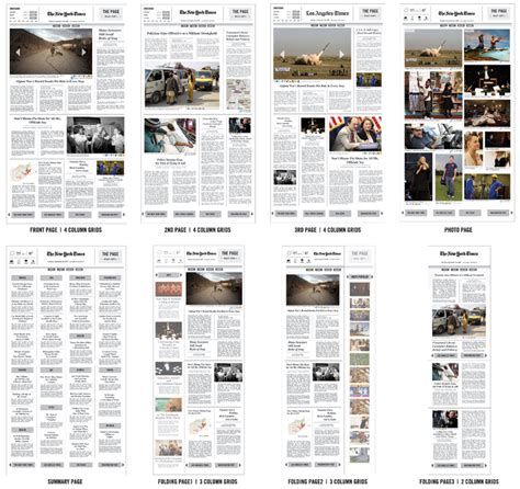 grid layout newspaper the page adaptive delivery device