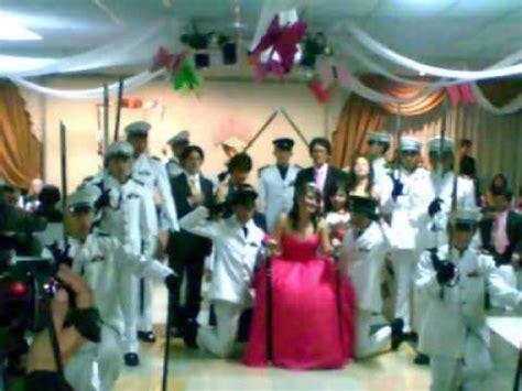 protocolo fiesta de 15 de camila salas youtube corte militar edecanes militares para 15 a 241 os y demas