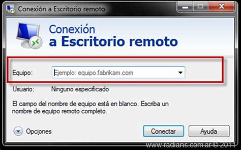 cliente escritorio remoto escritorio remoto windows 7