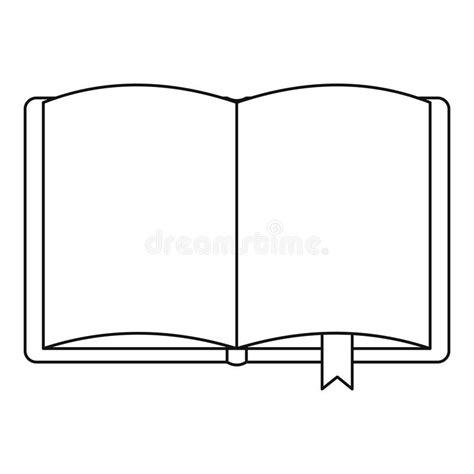 libro outline libro aperto con l icona del segnalibro stile del profilo illustrazione vettoriale
