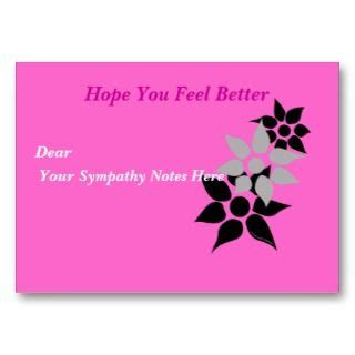 Feel Better Card Template by Pin The Better Business Bureau Code Represents Sound