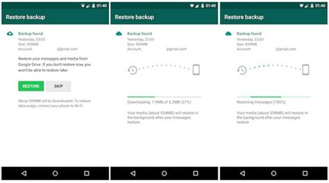 whatsapp backup android three ways to transfer whatsapp messages from android to android