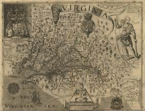 Colonial Virginia Map by Virginia Maps Virginia Digital Map Library Table Of