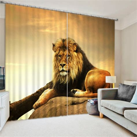 lion curtains gorgeous lion picture curtain set ebeddingsets