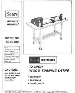sears craftsman wood metal lathe owners manual  models