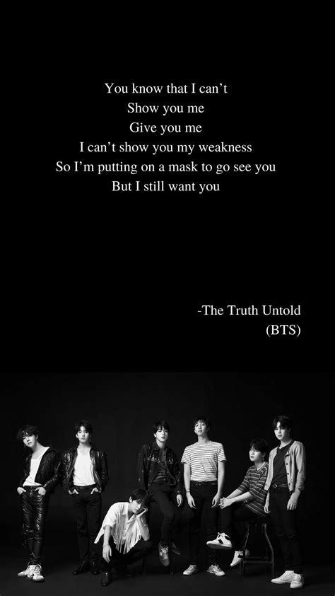 bts the untold lyrics the untold by bts lyrics wallpaper bts lyrics in