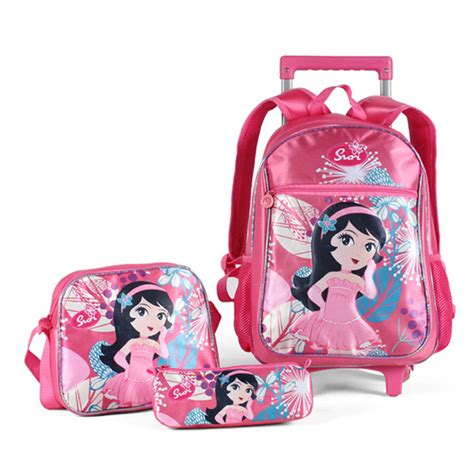 beautiful suitcases new 2015 lovely beautiful girl school rolling trolley bags