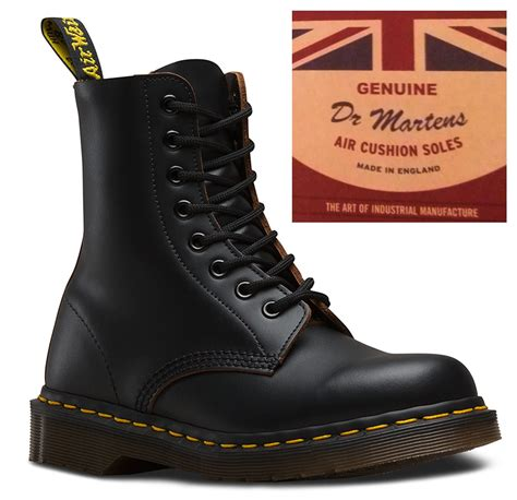 Dr Martens 8 Leather dr martens 1460 made in black oxblood leather