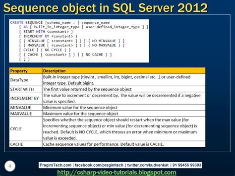 tutorial video sql sql server net and c video tutorial sequence object in