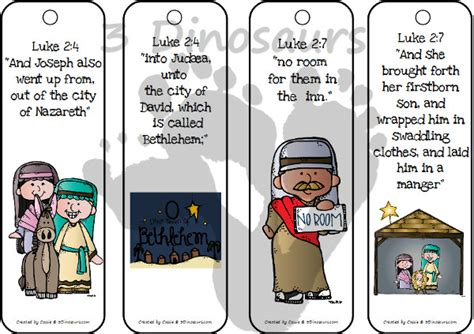 printable nativity bookmarks nativity themed bookmarks with scriptures 3 dinosaurs