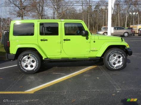 Gecko Green Jeep Wrangler Gecko Green Pearl 2013 Jeep Wrangler Unlimited 4x4