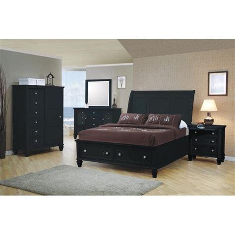 black sleigh bedroom set coaster 5 piece queen sleigh bedroom set in black 201329q s5