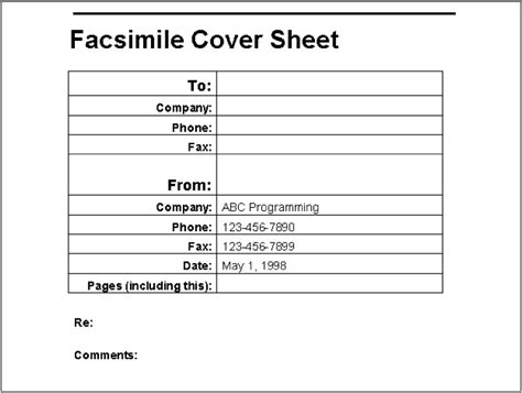 How To Write A Cover Sheet For A Resume by Exle A Fax Cover Sheet Writing Word Macros Second Edition Book