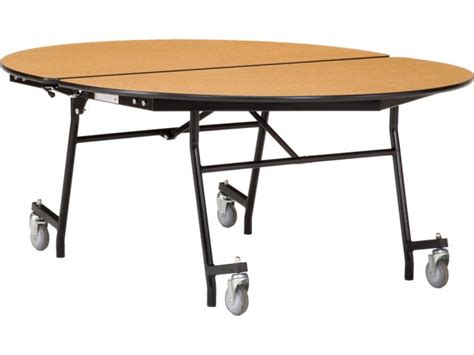 fold up cafeteria tables nps folding oval cafeteria table plywood chrome 72x60