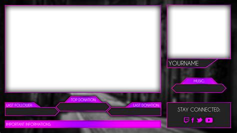 twitch layout maker blue facecam border template bing images