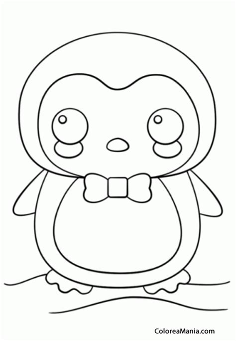 imagenes de cosas kawaii para colorear colorear pingino kawaii animales polares dibujo para